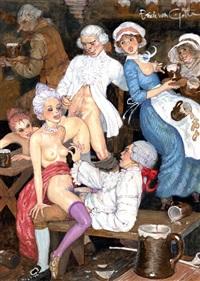banc de bois pour lits de plumes (fro le journal de sartine) by erich von gotha