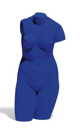 la vénus dalexandrie vénus bleue by yves klein