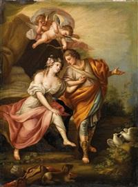 diana und endymion; bacchus und ariadne; venus und adonis; ceres und bacchus by alessandro fischetti