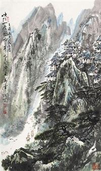 峡江山居图 by wu zehao