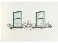 proposal for a civic monument in the form of two windows by claes oldenburg