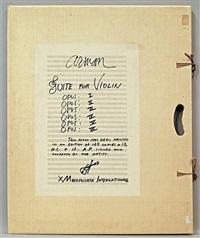 opus i-vi, suite for violin (portfolio of 6) by arman