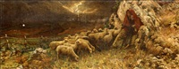pastorella con gregge by augusto corelli