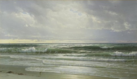 gentle surf new jersey coast by william trost richards