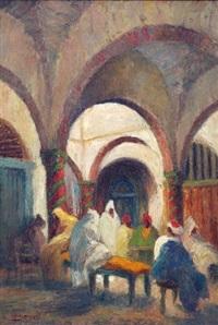 scène de café à tunis by henry linosay