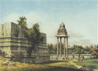 a pagoda at mahabalipuram, near madras by john gantz