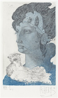 the blue ladies (portfolio of 5) by helmut leherb