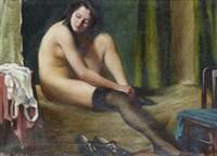 kvinna i sin boudoir by karoly teuchert