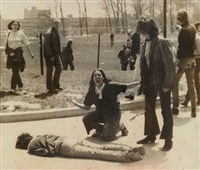 kent state shooting - mary ann vecchio leaning over the body of jeffrey miller by john filo