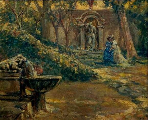 élégante au jardin by luigi caputo