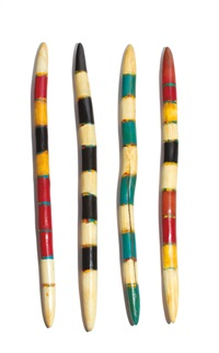 prayer sticks (4 works) by john geldersma