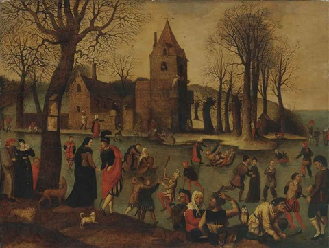 merry making on the ice by jan brueghel the elder