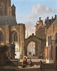 am brunnen vor der kathedrale by jan hendrik verheyen
