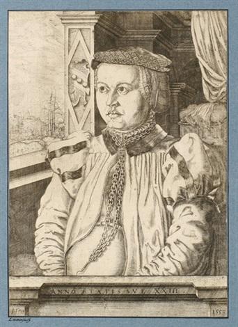 bildnis der frau von eckh frau des oswald von eckh by hans sebald lautensack