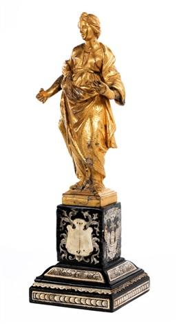 vergoldete bronzefigur einer frauengestalt by anonymous italian 17