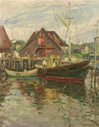 gloucester harbor by bertha menzler peyton