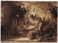 abraham entertaining the three angels by barent fabritius
