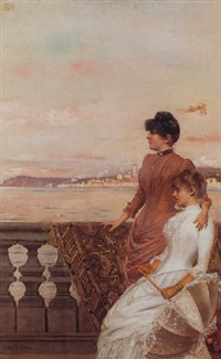 on the balcony by georges van den bos