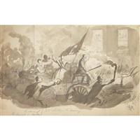 sicily and naples: june - november (album w/ c. 100 works) by thomas nast