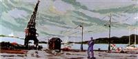 paisaje portuario by federico lloveras herrera