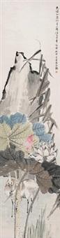 花鸟 立轴 设色纸本 by ren bonian