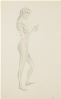 nude with flowers by david hannah