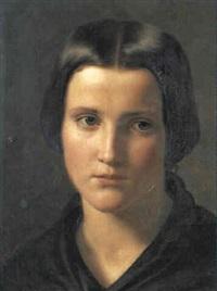 portrait lieselotte stiegel by ludwig des coudres