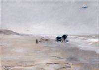 deux pêcheurs sur le littoral by alfred roll