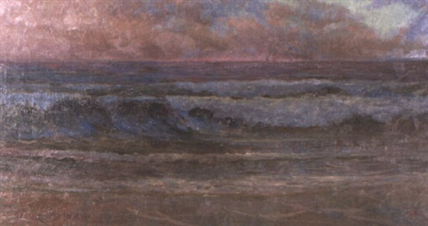 seascape at dusk by thomas tom humphrey