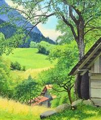 summer landscape by pierre jaques