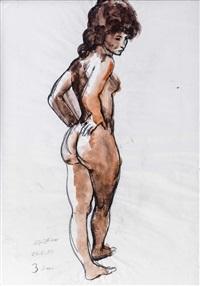 susi - stehender weiblicher akt by werner augustiner