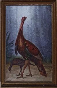 louisiana eastern wild turkeys (tom and jake) by achille perelli