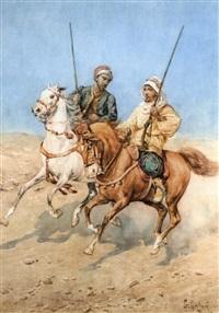 arabes à cheval by giuseppe gabani
