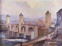le pont valentré à cahors by guillaume dulac