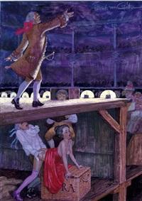 dernières faveurs sous le théatre de l'opéra (for le journal de sartine) by erich von gotha