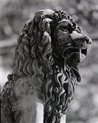 untitled - lion sculpture by theodore cohen