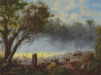 brazilian military encampment in yguazú by adolf methfessel