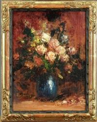 bouquet de fleurs by alfred théodore joseph bastien