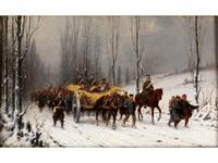 preussische truppen mit französischen kriegsgefangenen by christian sell