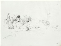 reclining figure by shimrit baer
