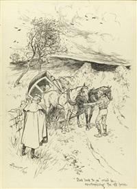 two illustrations (2 works) by arthur rackham
