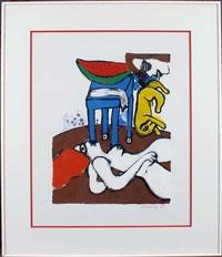 la chaise bleue by corneille