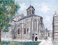l'abside de l'église saint-pierre à montmartre by maurice utrillo