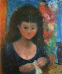 la tricoteuse by édouard joseph goerg