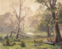 may morning, woori yallock, victoria by ernest william buckmaster