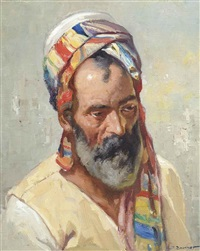 portrait of an arab by josef brunner
