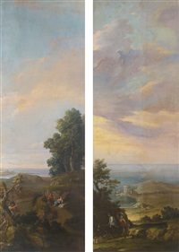 pair of landscapes by french school (18)