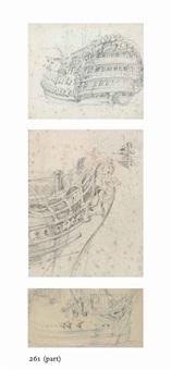 studies of a man of war (4 works) by sir william allan