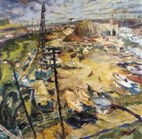 chicago harbor scene by catherine arnold