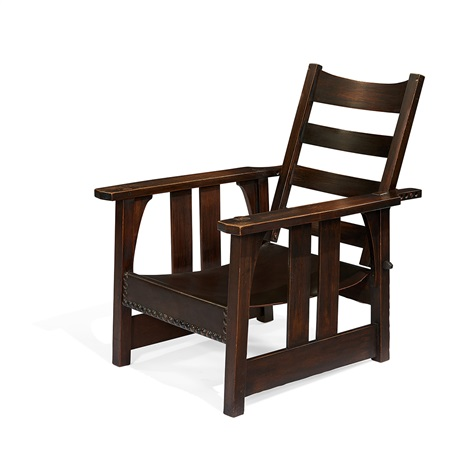 Amazing Morris Chair 334 By Gustav Stickley On Artnet Pabps2019 Chair Design Images Pabps2019Com